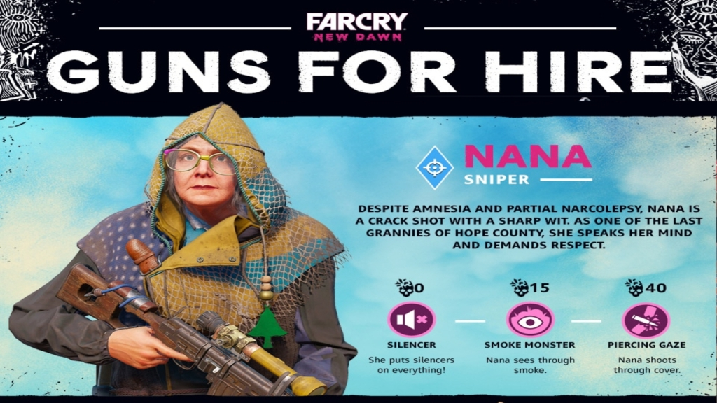Far Cry New Dawn: Guns for Hire - Nana