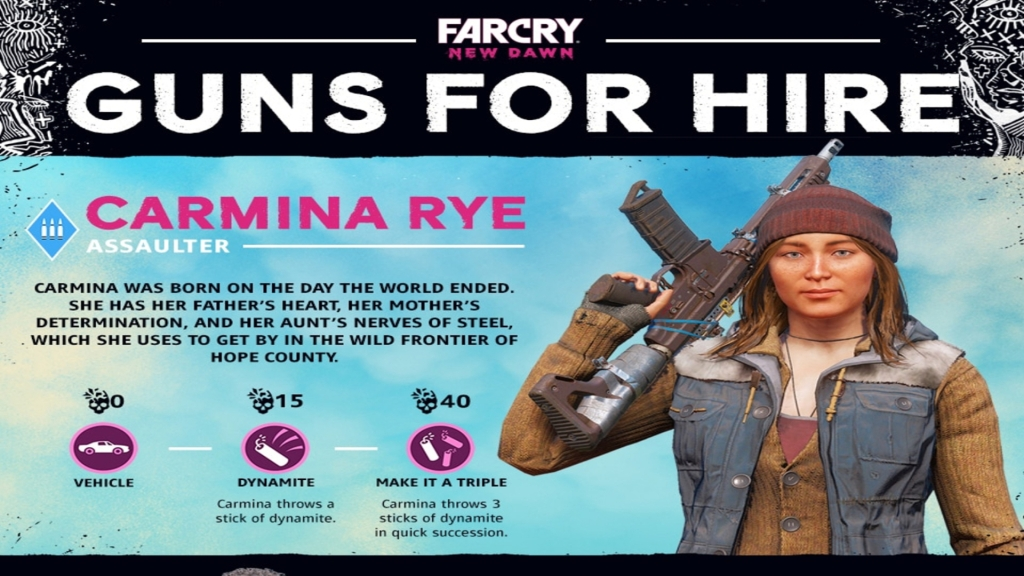 Far Cry New Dawn: Guns for Hire - Carmina