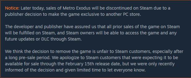 Pre-purchase Metro Exodus on Steam
