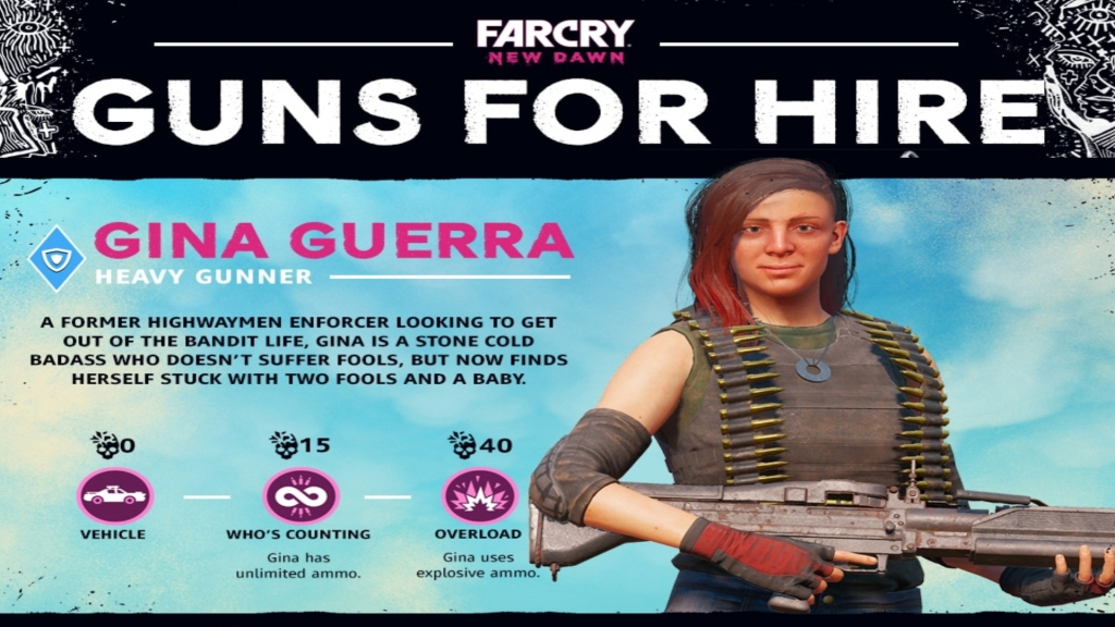 Far Cry New Dawn: Guns for Hire - Gina